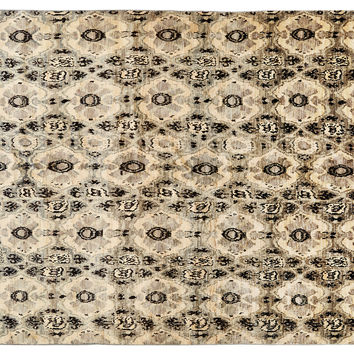Stark, 9'x12' Ronan Rug, Cream/Black, Area Rugs
