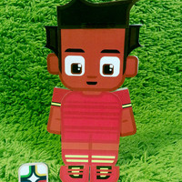Ghana football soccer craft activity. Printable paper toy. Instant download. Make you own cards, banners and football soccer bunting!