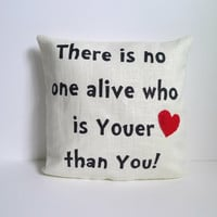 Youer Than You Pillow, Dr. Seuss inspired, FREE SHIPPING