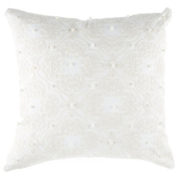 White Embroidered Pillow Cover | Hobby Lobby | 1090133