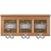 Custom Art Deco Snowflakes on Gold Print Coat Rack