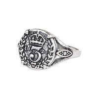 River Island MensSilver tone coin ring