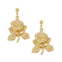 LOVE IS. ROSE DROP EARRINGS