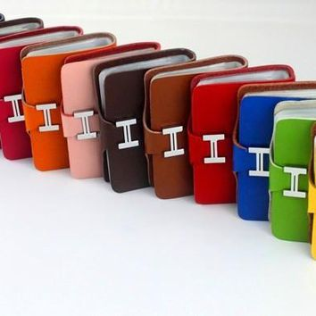 HAHMES 100% genuine leather card case