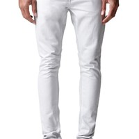 Stacked Skinny Ice Jeans - Mens Jeans - White
