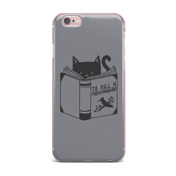 "Tobe Fonseca ""To Kill A Mockingbird"" Gray Cat iPhone Case"