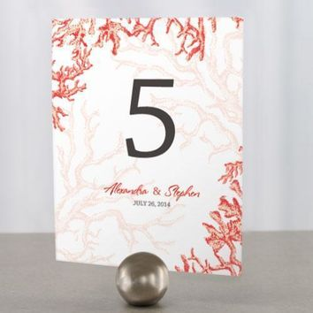 Reef Coral Table Number Numbers 1-12 Watermelon (Pack of 12)