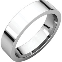 Palladium 1.5mm Flat Comfort Fit Wedding Band Ring - Bridal Jewelry: RingSize: 50