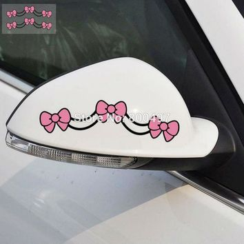 2 x Car Styling Hello Kitty Car Stickers Bowknot Car Decorative Decal  for Toyota Chevrolet Mazda BMW Honda Volkswagen Hyundai
