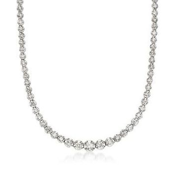 Ross-Simons - 3.00 ct. t.w. Diamond Tennis Necklace in 14kt White Gold - #546996