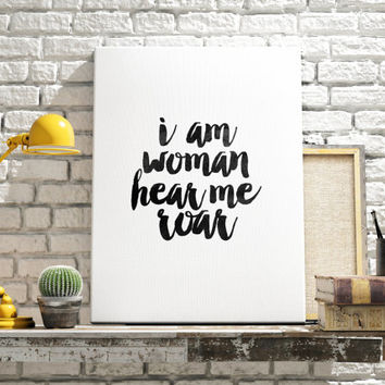 "Katy Perry Roar ""Hear me roar"" Katy Perry quote Inspirational poster Home decor Motivational quote Katy Perry poster Printable quote"