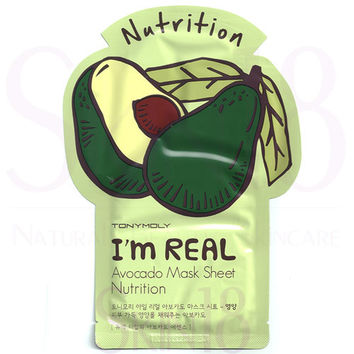 TonyMoly I'm Real Face Mask Sheet - Avocado  *exp.date 06/18