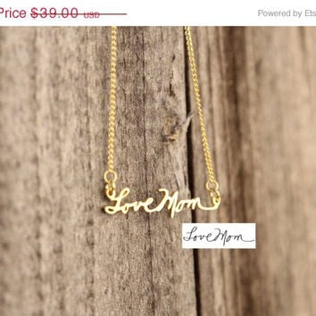 ON SALE Hello February SALE - Personalized Dainty Signature Necklace - Dainty Style - Valentines Gift - Bridesmaid Gift - Ships in 1-2 Weeks