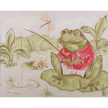 Renditions by Reesa CP610 Freddie Gone Fishing: 16 x 20 Canvas Wall Art