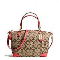 MADISON SMALL KELSEY SATCHEL IN SIGNATURE FABRIC