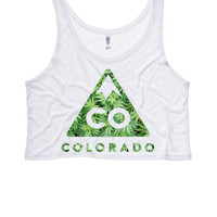 COLORADO Weed Boxy Crop Top | Teen Tops Shirts Crop Top Boxy Tank Rebellious Rebel Shirt Whoa We Got a Bad Ass over Here