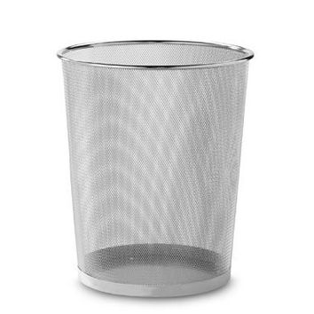 Seville® Mesh Metal Trash Can in Chrome
