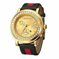 GUCCI Fashion Casual Ladies Men Quartz Stripe Watches Wrist Watch