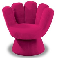 LumiSource Plush Mitt Chair, Hot Pink: Home & Kitchen