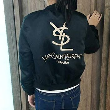 YSL Yves Saint laurent Woman Men Fashion Cardigan Jacket Coat Windbreaker