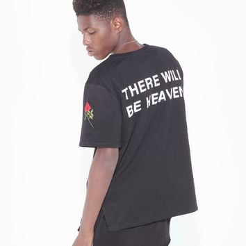 THERE WILL BE HEAVEN TEE IN BLACK