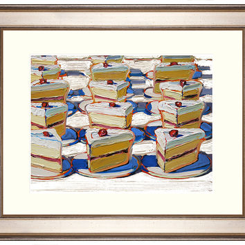 Wayne Thiebaud, Folsom Street Fair Cake, Paintings
