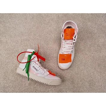 off white c o virgil abloh 18ss low 3 0 white orange