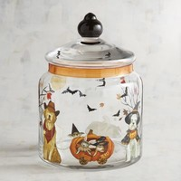 Halloween Park Avenue Puppies™ Painted Cookie Jar