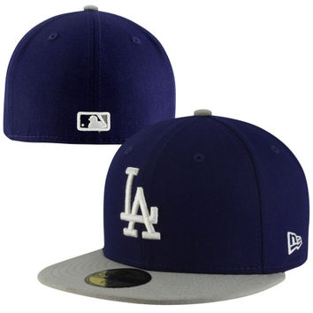 New Era L.A. Dodgers Two-Tone 59FIFTY Fitted Hat - Royal Blue/Gray
