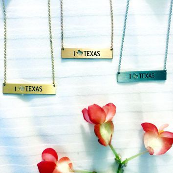 I Love Texas Necklace