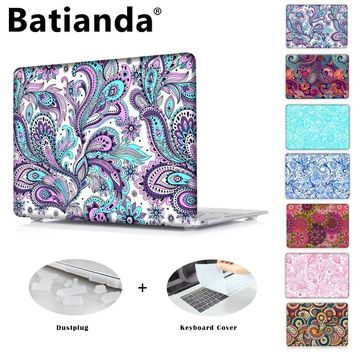 Crystal Hard Case for Apple MacBook Pro 13 inch & New 12 Air 11 13 Paisley Pattern Cover for Pro 13 15 2016 2017 Touch Bar A1706