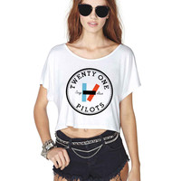 Twenty One Pilots 623 Crop Shirt , Custom Crop Shirt , Woman Crop Shirt