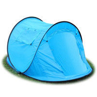 2-3 Person Family Portable Camping Pop Up Tent Blue