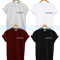 the 1975 pocket logo t shirt swag dope fashion music hipster trend album matt healy tour trend unisex