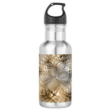Earth Tones Abstract Modern Fractal Art Texture Stainless Steel Water Bottle