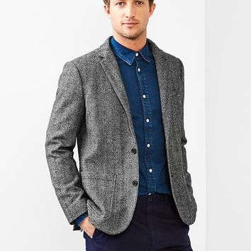 Gap Men + GQ Brooklyn Tailors Herringbone Blazer