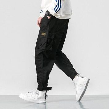 2019 Men Multi-pocket Elastic Waist Design Harem Pant 5XL