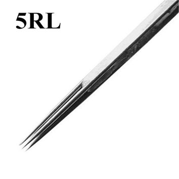 Box Of 50PCS 5RL Disposable Sterile Tattoo Needles 5 Round Liner Supply