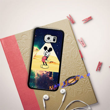 disney Mickey mouse Hipster Triangle Galaxy Samsung Galaxy S6 Edge Plus Case Planetscase.com