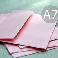 "25 A7 Metallic Blush Envelopes - Metallic Pink Envelopes - Blush Pink Envelopes - 5x7 inches (true size 5 1/4"" x 7 1/4"") - Quantity 25"