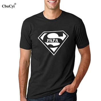 Super Papa T-shirt Fathers Day Gift New Dads Funny T Shirt Best Dad tshirt Mens Hipster Slogan Tee shirt homme