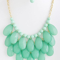 Cascade Falls Necklace in Mint -  $28.50 | Daily Chic Accessories | International Shipping