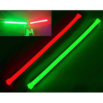 Pimp My Boat Neon Navigation LED Light Strips Red & Green for Bass Boats, Pontoons, Wave Runners, Kayaks, and Ski Boats