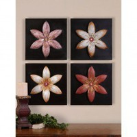 Uttermost Flowers Wall Art (Set of 4) - 13731 - Decor