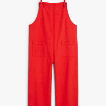 Denim dungarees - Red dragon - Jumpsuits - Monki GB