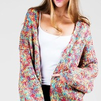 Candy Mix Open Cardigan