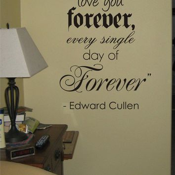 I Promise To Love You Forever Twilight Quote decal sticker wall edward bella jacob