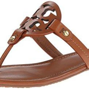 Tory Burch Women's Vachetta Leather Flat Thong Sandals - Miller (11, Vintage Vachetta)