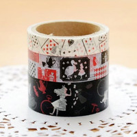 Alice in Wonderland washi tape set samples