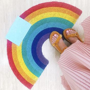 41x75cm Rainbow Lemon Pattern Rug Absorbent Carpet Rugs And Carpets For Home Living Room Door Mat